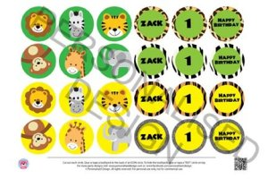 Jungle Cupcake Toppers